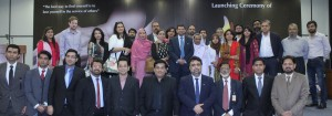 "Group photo taken on the occasion of SSGC's ""Ham Qadam"" initiative started under its CSR Program"