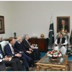 CEO of FrieslandCampina RoelofJoostenand Chairman Engro Corporation Hussain Dawood meet with Prime Minister Nawaz Sharif
