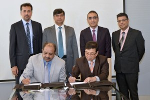 Syed Irfan Ali, Executive Director, SBP and Mr. Maheshwor Lal Shrestha, Executive Director, Nepal Rastra Bank signed MOU between the two countries in a ceremony held today at SBP, Karachi.<p><p id=
