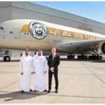 """Chairman of Abu Dhabi Department of Transport inspects the specially-designed Etihad Airways' """"Year of Zayed"""" A380"""