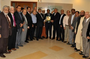 Mr. Samiullah Naeem, President, Gunjrawala Chamber of Commerce and Industry and Chairman, Rice Exporters Association of Pakistan; while speaking on the occasion of the luncheon meeting held in his honor at FPCCI, Head Office, Karachi. He said that services of Mr. Abdul Rahim Janoo Senior Vice President, FPCCI to the cause of business community will always be remembered in the history of FPCCI and his tenure as a Senior Vice President will be a guideline to his followers. He further said that Mr. Abdul Rahim Janoo is the seasoned in a leading businessman of the rice exports had taken numbers of initiatives to boost the business environment and revival of economic activities in Pakistan. He is particularly made the things transparent especially in Fair and Exhibition Department of FPCCI. Mr. Samiullah Naeem emphasized that the policies and the projects initiated by Mr. Abdul Rahim Janoo should continue, which will enhance the image of FPCCI in the times to come and the name of FPCCI will be encouraged as a real trade body serving the entire business community without any discrimination. Mr. Zubair Tufail Former Vice President, FPCCI stated that he's looking for appraised relations between the FPCCI and Gunjrawala CCI along with the encouraging words for the rice exporters from the platform of FPCCI. Mr. Zubair Tufail encouraged the CSR – Corporate Social Responsibility activities comprised of Eye Camp and scholarship facilitation to students by Mr. Abdul Rahim Janoo, Senior Vice President, FPCCI and appreciate a positive role in the welfare deeds. He added that he is quite hopeful for the future deeds ofMr.  Abdul Rahim Janoo, for the business community and federation as well. Mr. Zubair Tufail shared his role for solving the withholding tax in FBR and assured the attendees and members that they will resolve the matter in the interest of business community.