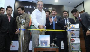 "Group photo taken on the occasion of SSGC's ""Ham Qadam"" initiative started under its CSR Program"