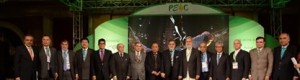 Picture Mr. Zubair F. Tufail, President FPCCI is Presenting FPCCI for Finance, Mr. S.M. Muneer, CEO TDAP, Chairman Port qasim Aga Jan , Minister For Helth Sikandar Mandhrao,Rasheed jan Mohammad, Bashir jan mohammad ,Dr. James Fry and other also seen in picture