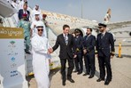 Etihad Airways showcases innovation to royalty at Dubai airshow